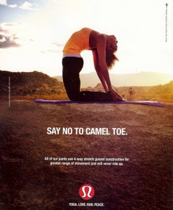 Lululemon Camel Toe ad 2010 April
