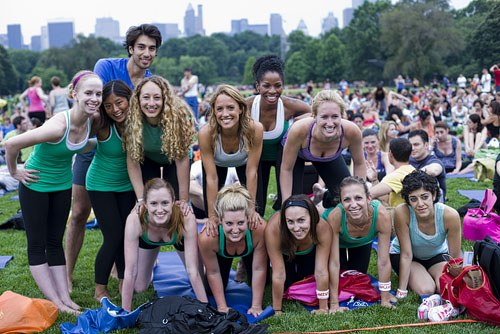 Team Lululemon wore matching green tanks: A new color now in stores?