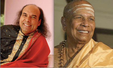 Bikram Choudhury and Pattabhi Jois
