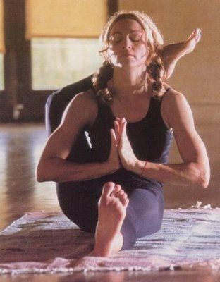 Madonna practicing ashtanga yoga
