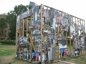 An installation at Socrates Sculpture Park in Long Island City