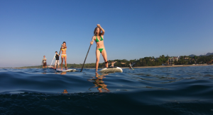 stand-up paddling in the Hamptons