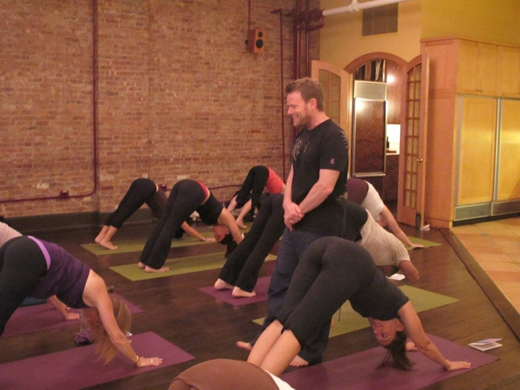 David Romanelli teaches Yoga for Foodies at the Culinary Loft