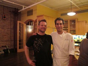 David Romanelli and Peter Berley at Yoga for Foodies at the Culinary Loft