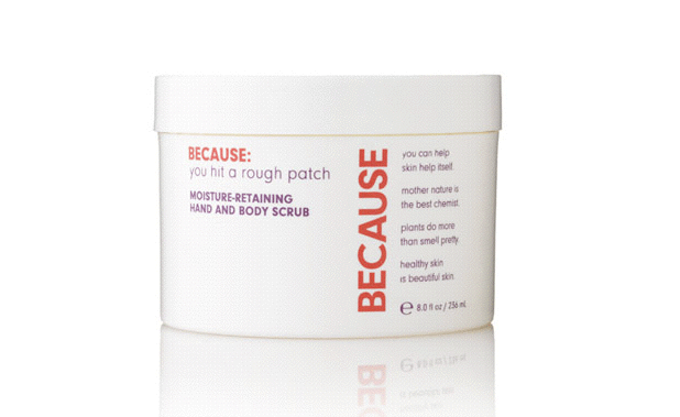 BECAUSE MOISTURE RETAINING HAND AND BODY SCRUB