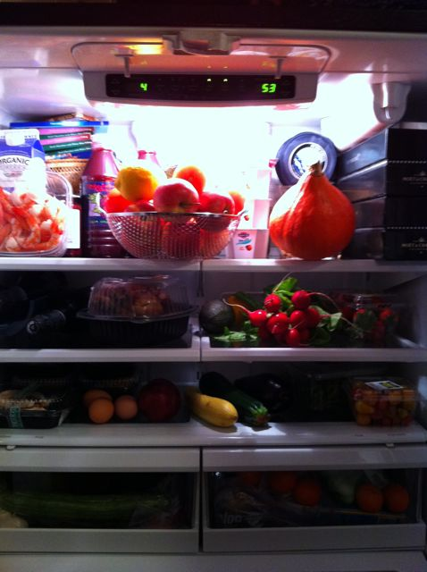 Oz Garcia's refrigerator on wellandgoodnyc.com