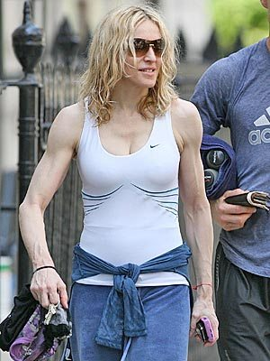 Madonna after a workout