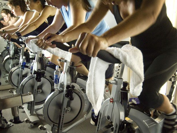 spin class is tough on your crotch