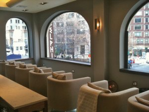 New York City nail salon TenOverTen with a view