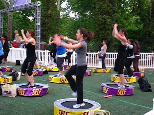 Self Magazine Workout in Central Park