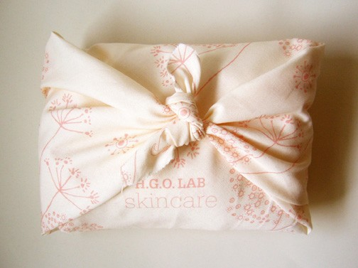 gift-wrapped beauty products