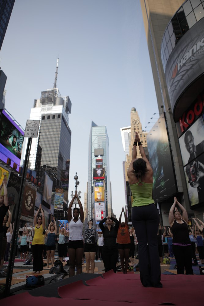 Yoga solstice in times square