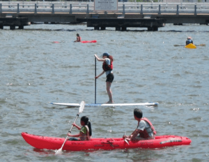 If you fall in, keep your mouth shut, and other things I learned paddle boarding on the Hudson