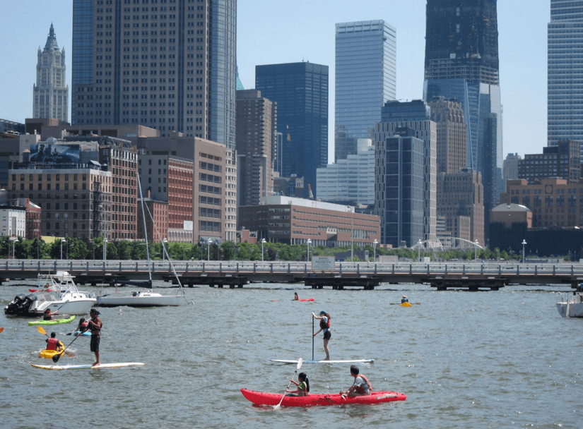 paddle boarding in New York City