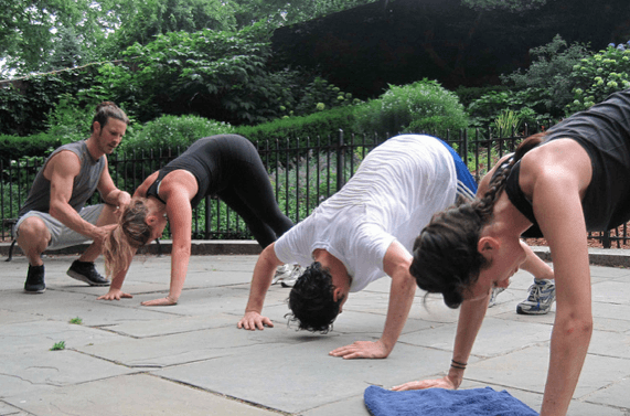 outdoor boot camp class in New York City