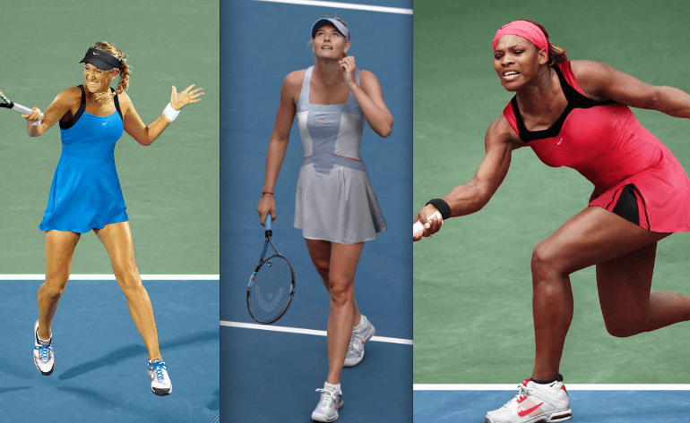 Victoria Azarenka, Maria Sharapova, Serena Williams