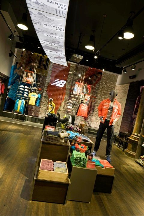 A view of New Balance's New York City store