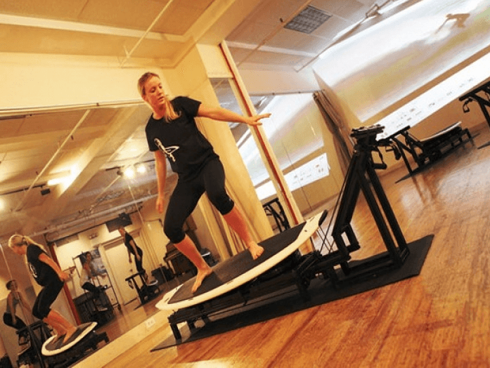 SurfSet indoor surfing workout reformer