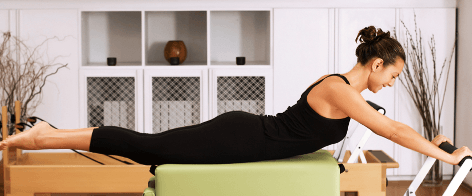 Reformer Pilates at fitness spa