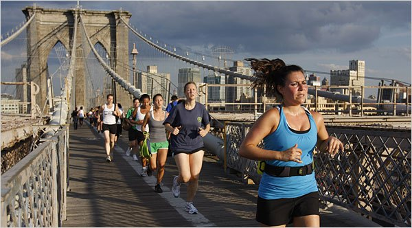 Brooklyn Bridge running
