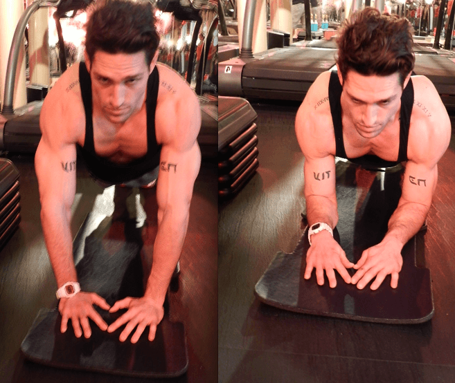 triangle push-up
