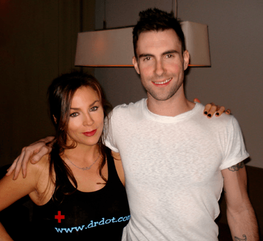 Dr. Dot and Adam Levine Maroon 5