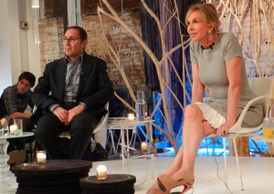 Dr. Frank Lipman and Trudie Styler at ABC Home and Carpet.