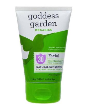 goddess garden face sunscreen