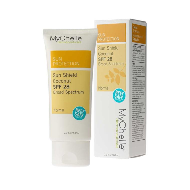 mychelle sun shield coconut sunscreen