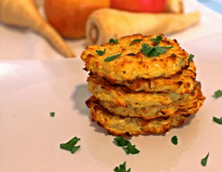 Recipe: Baked Parsnip and Apple Latkes | Well+Good