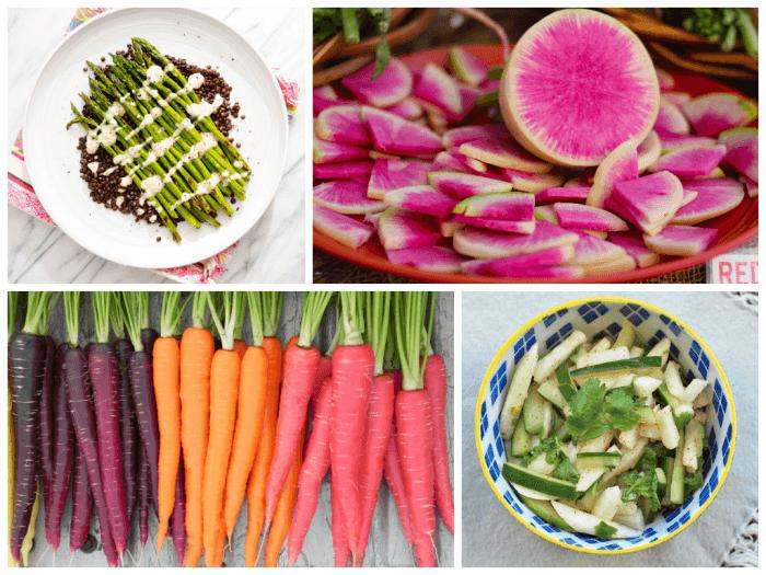 Microbiome Superfoods_asparagus_radishes_carrots_jicama