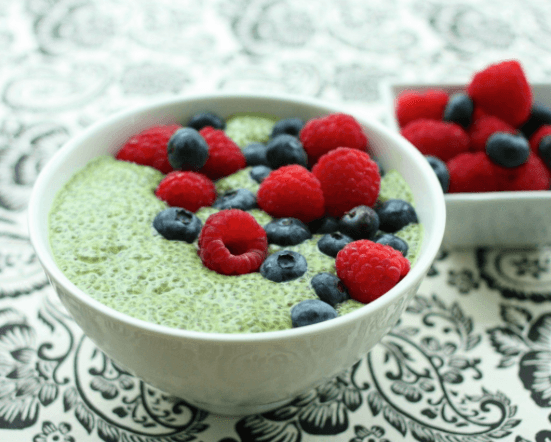 Choosing Raw matcha green tea pudding