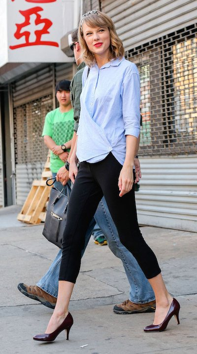 Taylor Swift after a workout at ModelFit in New York City