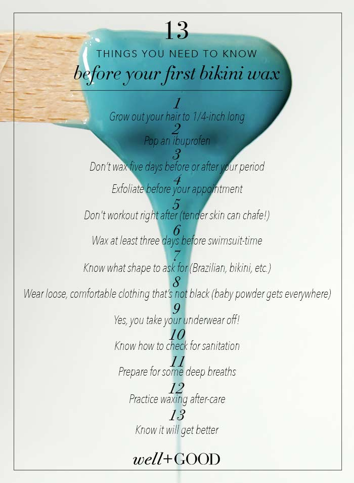 bikini wax tips