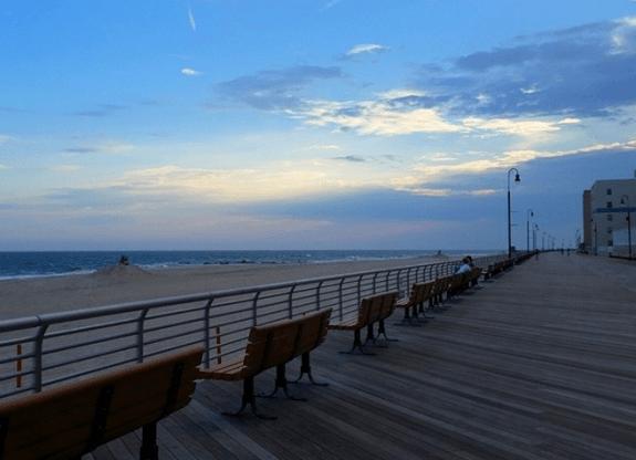 Long beach boardwalk, NY