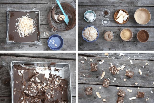 Raw carob coconut squares
