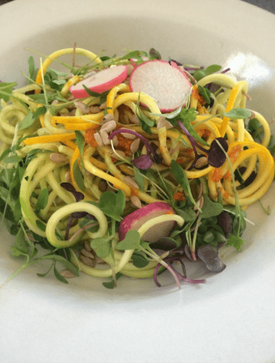 Raw Zucchini  and Squash Noodles by Christy Coleman
