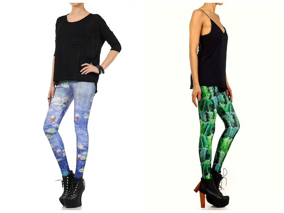 Poprageous_printed leggings_Monet_kale