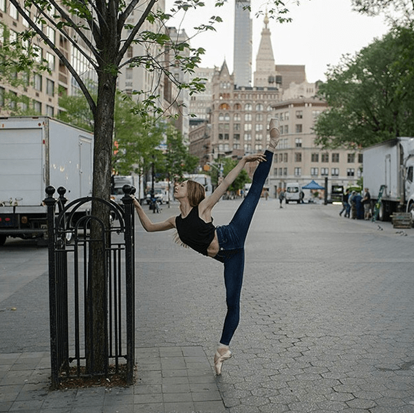 Isabella Boylston in AG Jeans. (Photo: Ballerina Project)
