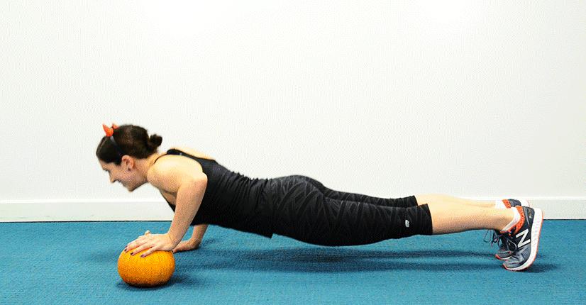 Whole body pumpkin workout