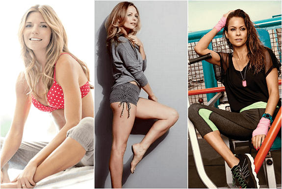 Los Angeles celebrity trainers Andrea Bogart, Kodi Kitchen, Brooke Burke