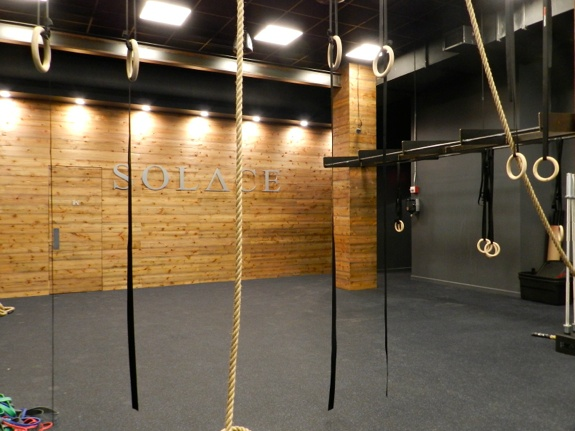 Crossfit solace has lots of barbells and also blow dryers