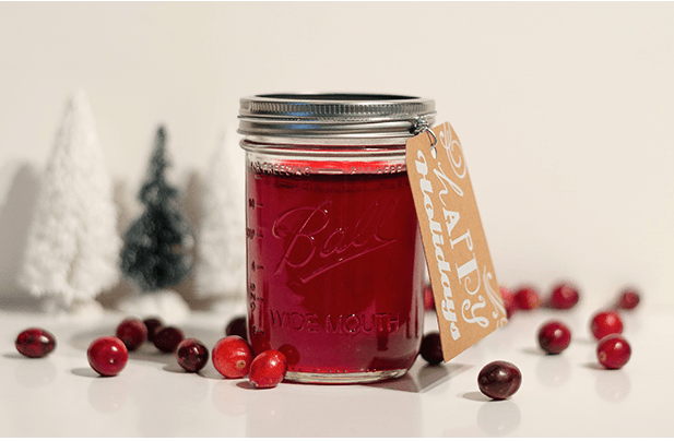 Cranberry Jelly mason jar gift