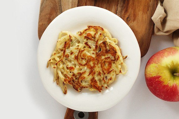 Easy Cheddar-Rosemary Spiralized Potato Pancakes_Inspiralized