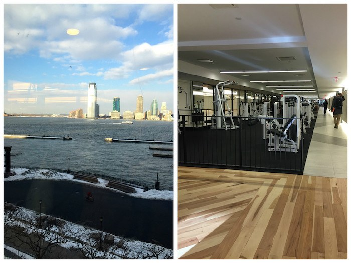 The view and some of the weight training equipment. (Photos: Molly Gallagher for Well+Good)