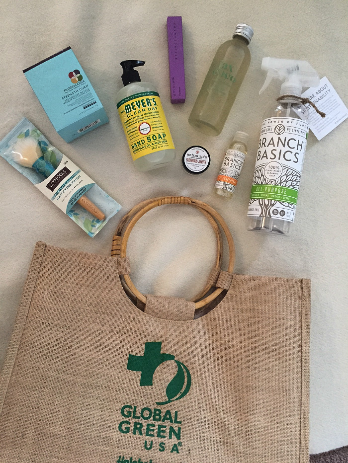 The natural beauty swag bag from Global Green Gala