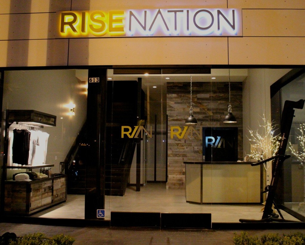 Rise Nation fitness studio is filled with VersaClimbers
