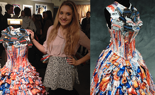 Dress made out of race medals