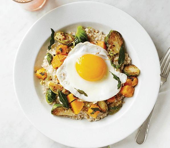 Savory oatmeal eggs