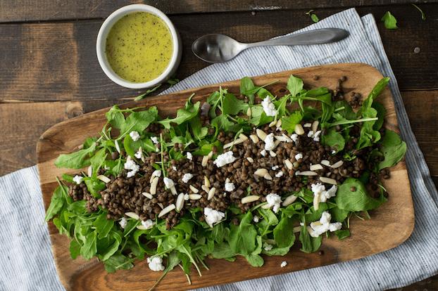 Arugula lentil salad